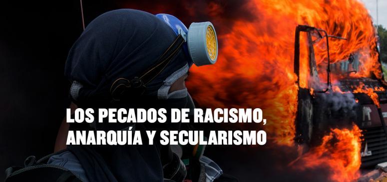 Front slider - Los pecados de racismo, anarquía y secularismo